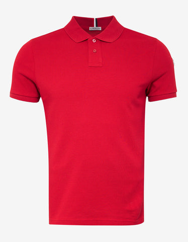 Red Logo Embroidery Polo T-Shirt