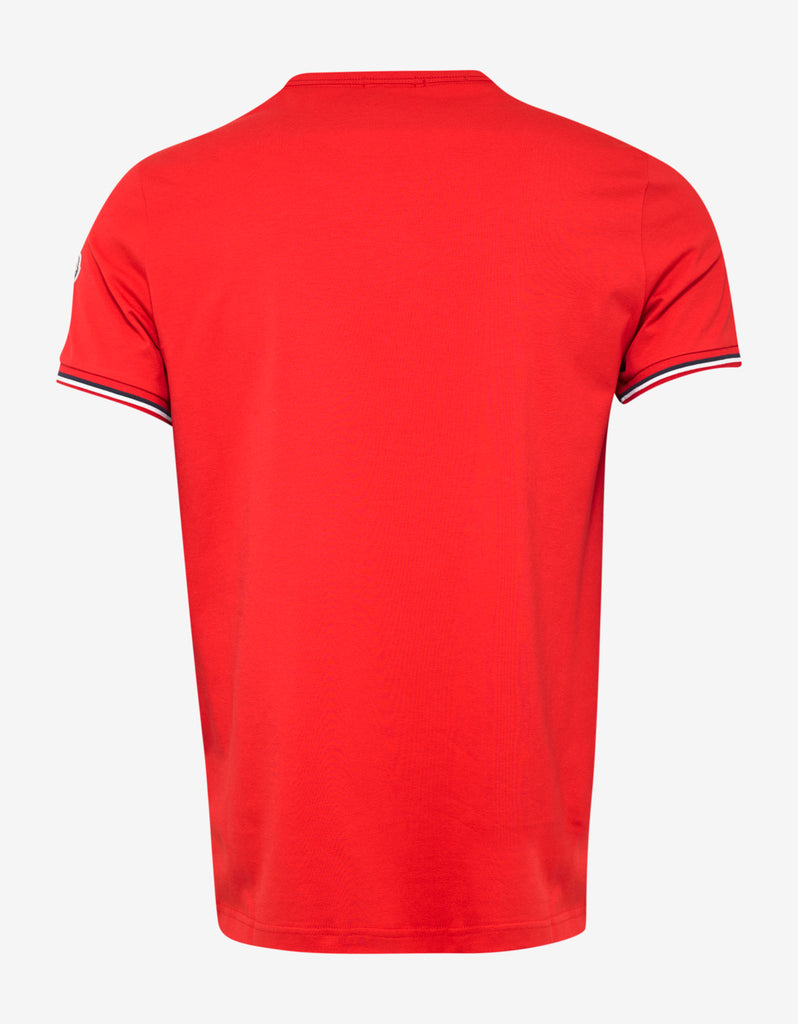 Red Tricolour Sleeve T-Shirt