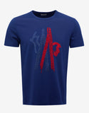 Royal Blue Logo Embroidery T-Shirt
