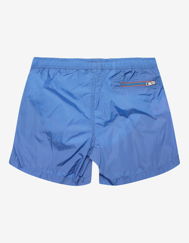 Moncler Sky Blue Logo Swim Shorts