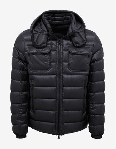 Moncler Valence Dark Grey Nylon Down Jacket