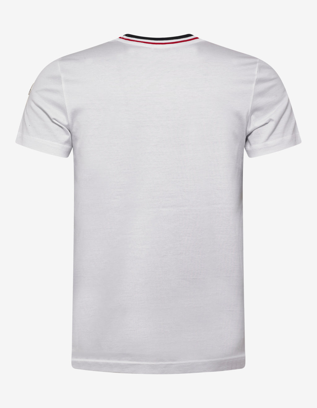 White Contrast Collar T-Shirt