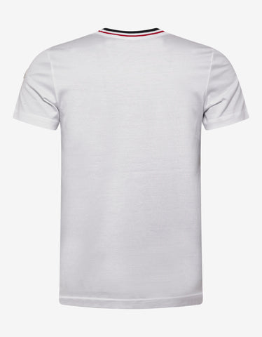Moncler White Contrast Collar T-Shirt