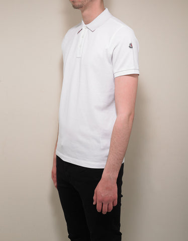 Moncler White Polo T-Shirt