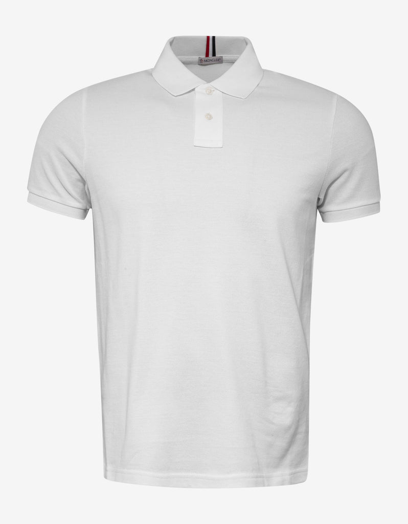 White Tricolour Collar Polo T-Shirt