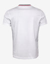 White Tricolour Collar T-Shirt