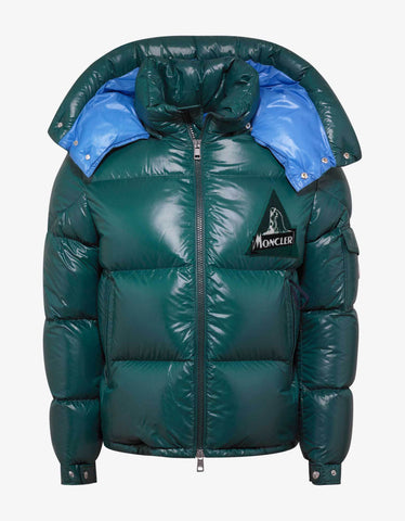 Moncler Wilson Green Nylon Down Jacket