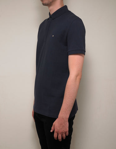Valentino Navy Blue Polo T-Shirt with Rockstud
