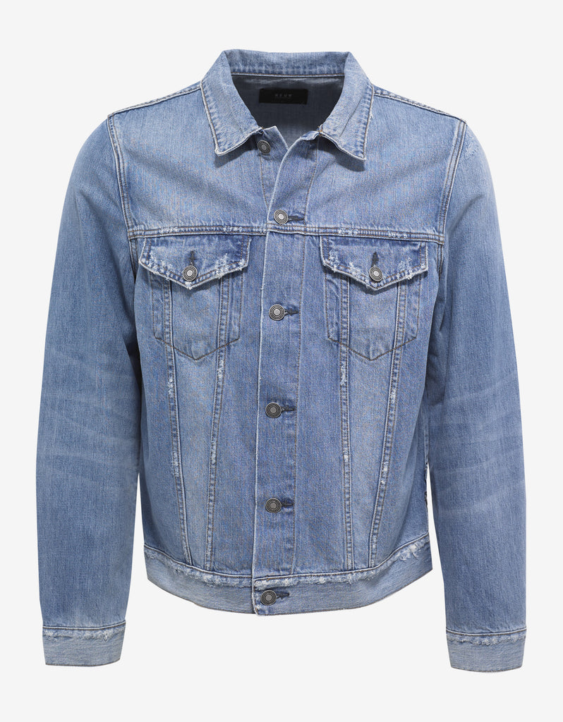 Beaten Blue Denim Jacket