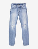Iggy Skinny Beaten Blue Distressed Jeans