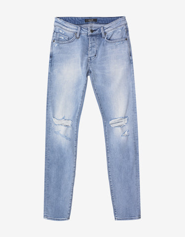 Neuw Iggy Skinny Beaten Blue Distressed Jeans