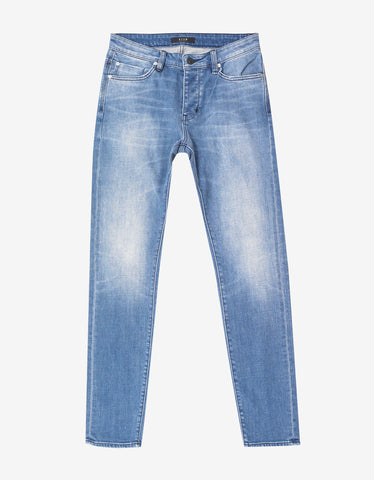 Iggy Skinny Factory Wash Blue Jeans