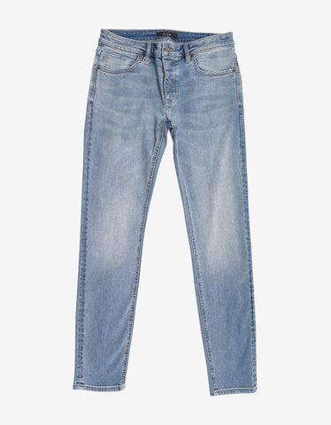Ray Tapered Busted Navy Blue Jeans