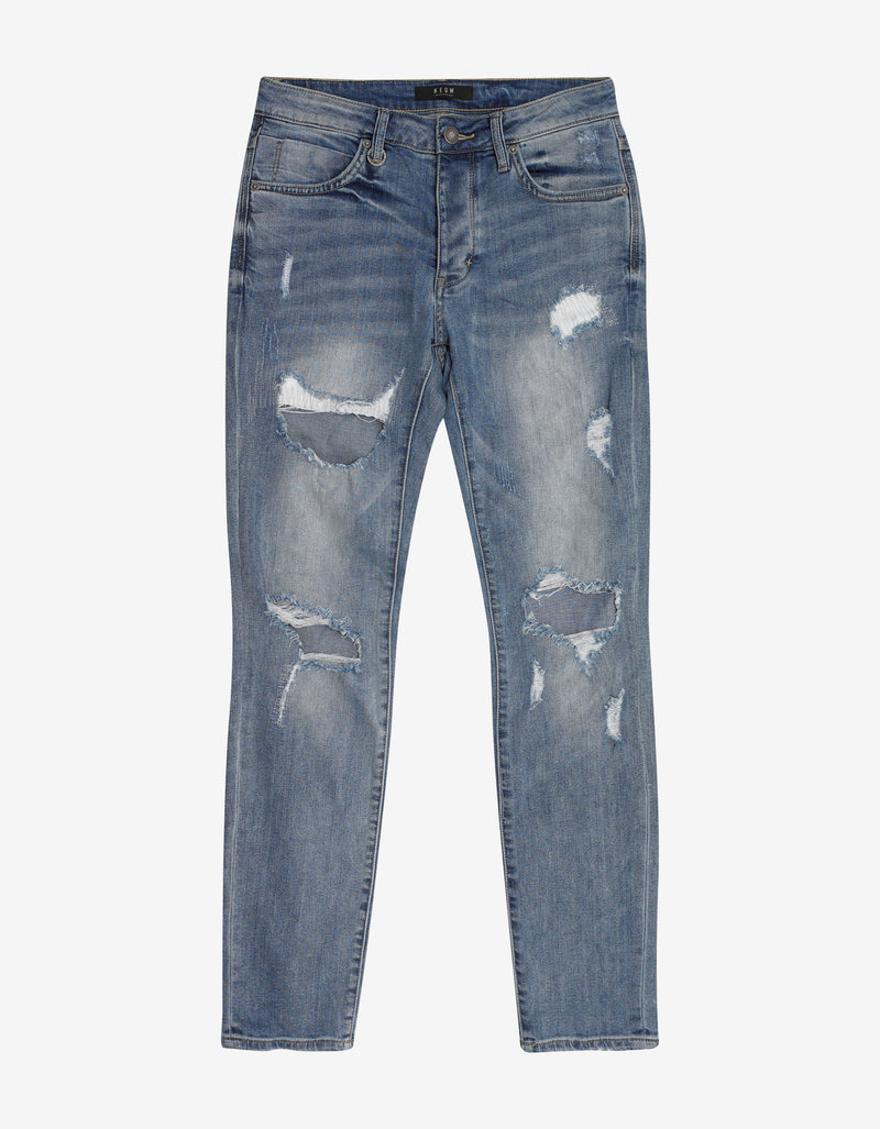 Iggy Skinny Ripped Blue Jeans