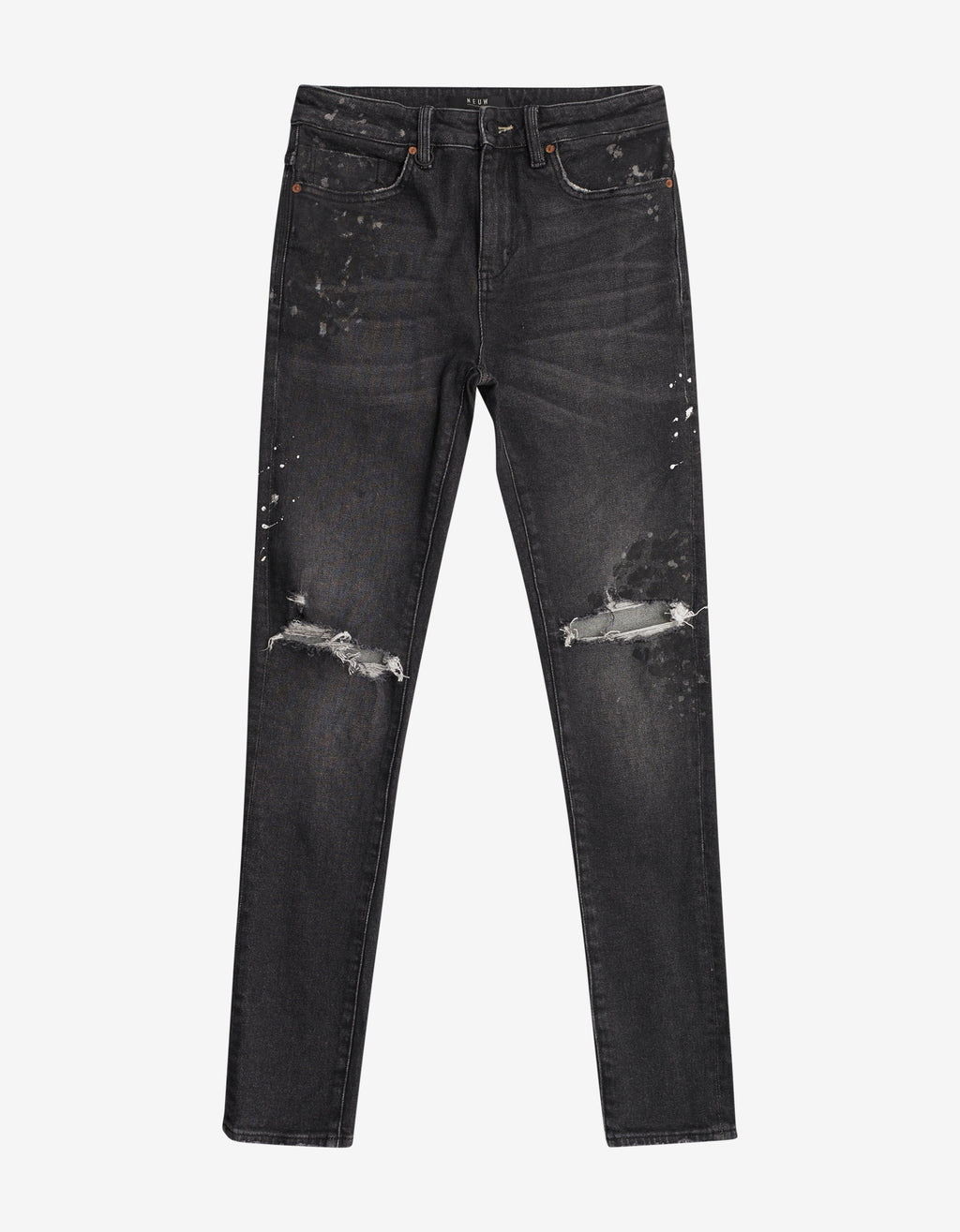 Rebel Skinny Art Black Jeans