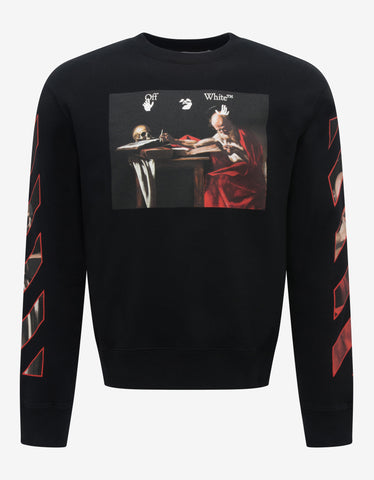 Red Embroidered Refracted Logo Sweatshirt