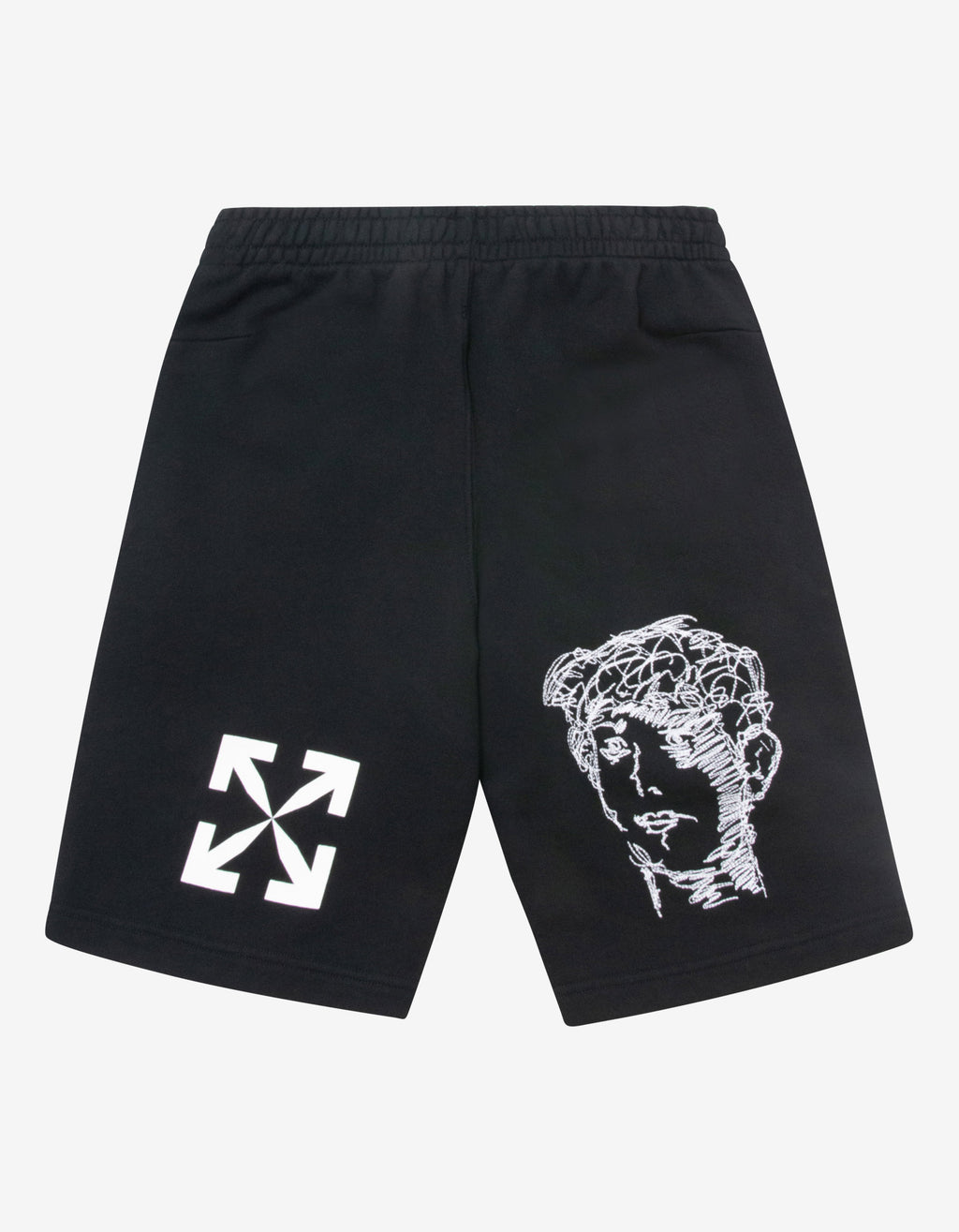 Black Disrupted Font Sweat Shorts