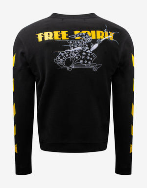 Black Free Wizard Sweatshirt