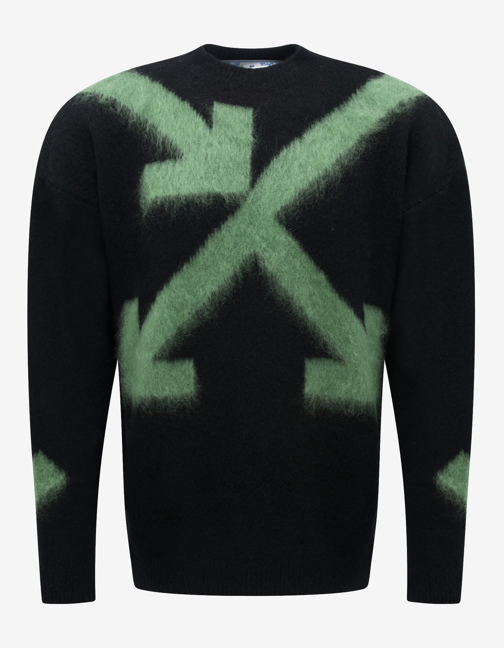 Black Fuzzy Arrows Sweater