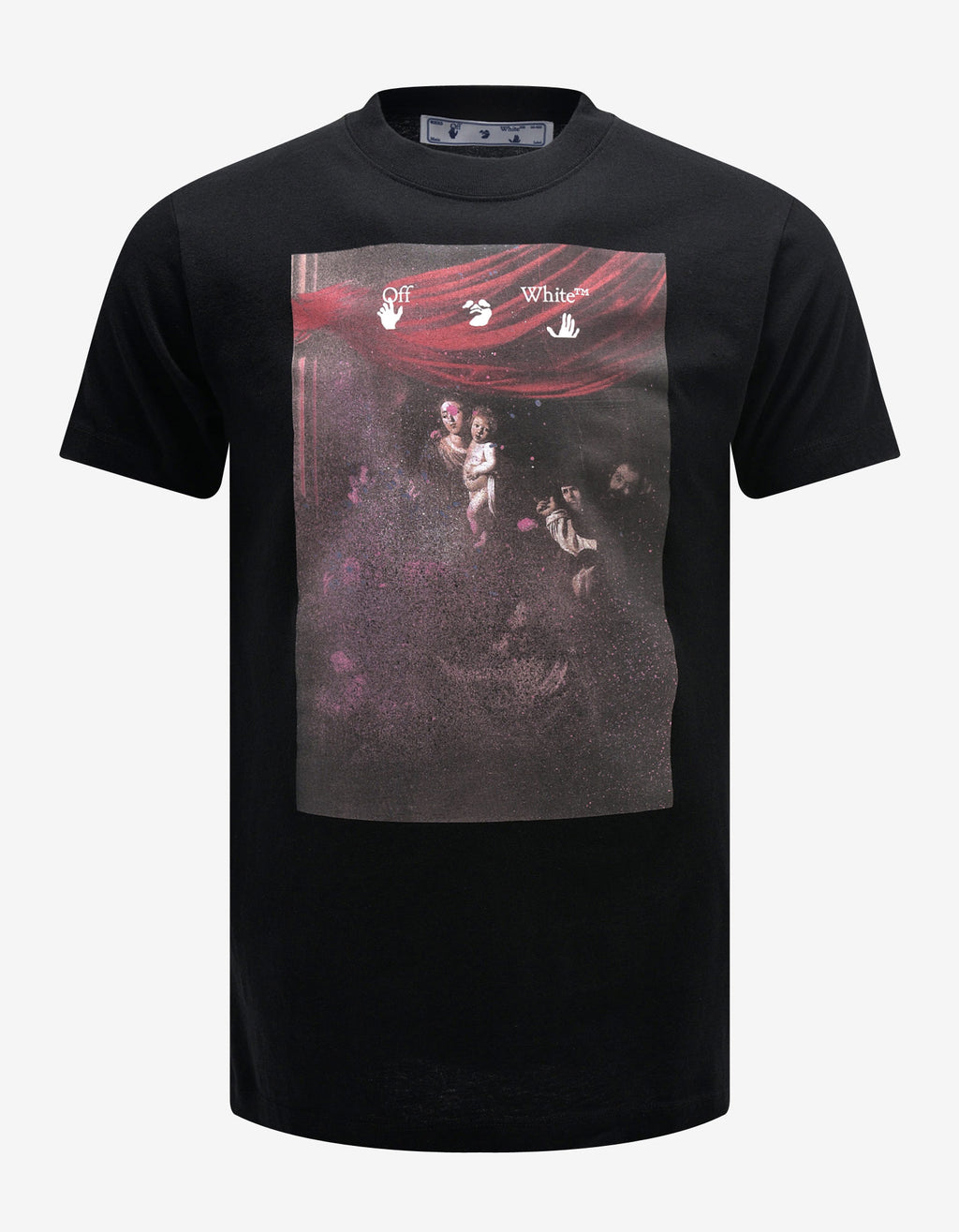 Black Sprayed Caravaggio Print T-Shirt
