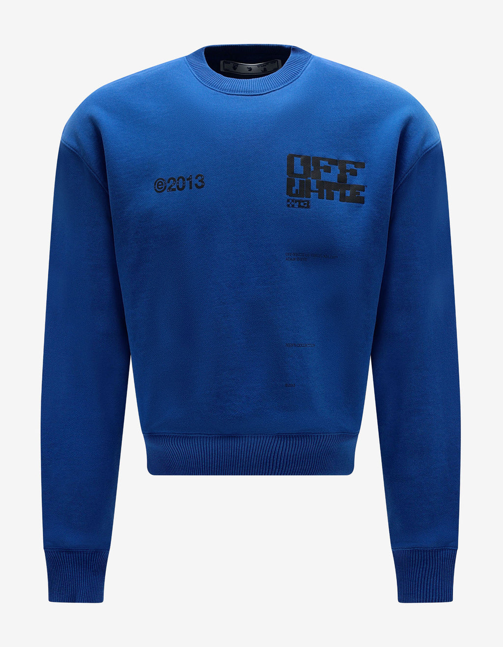 Blue Tech Marker Print Oversized Sweatshirt