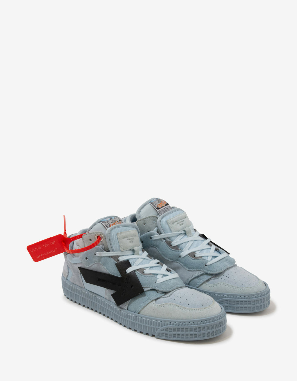 Pale Blue & Grey Off-Court Low Trainers