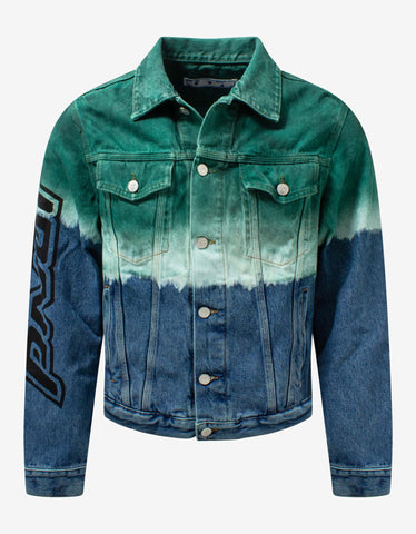 Blue Destroyed Denim Jacket