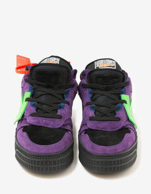 Violet & Green Off-Court Low Trainers