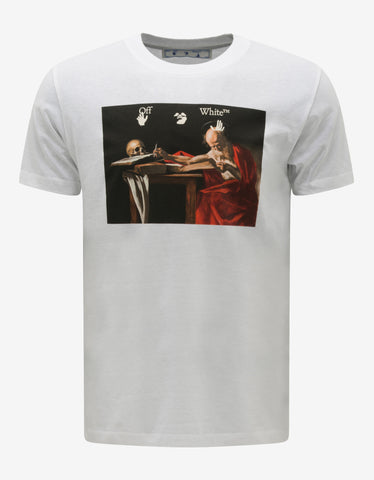 White Mona Lisa Oversized T-Shirt