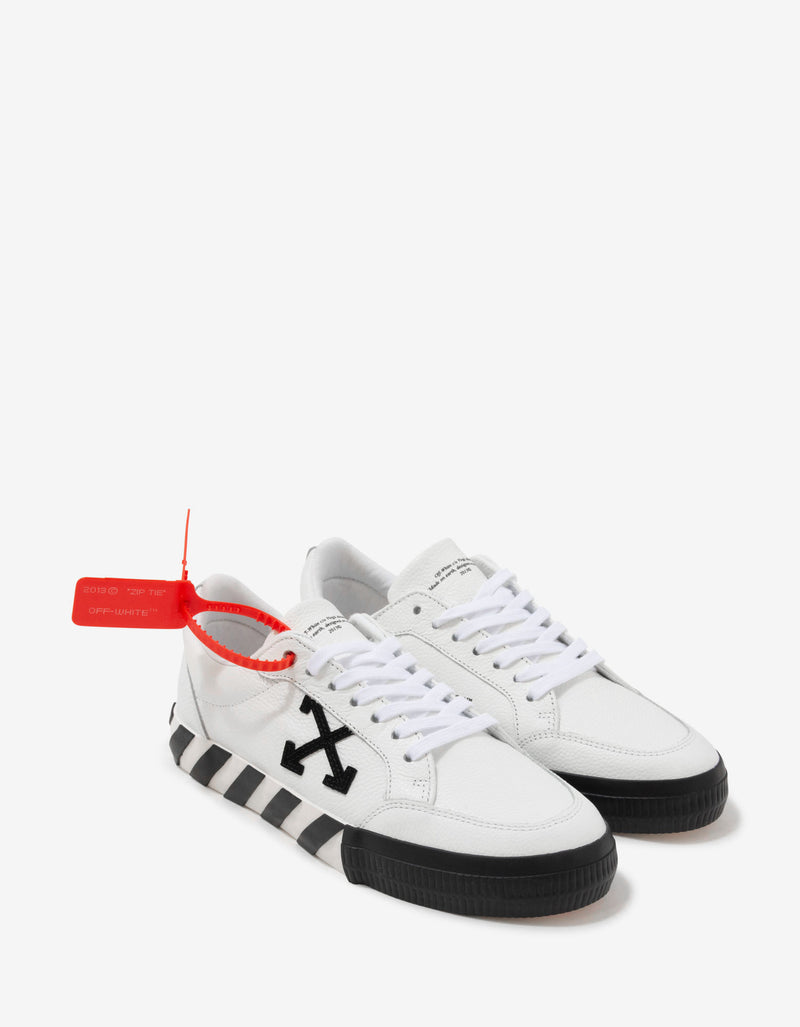 White Leather Low Vulcanized Trainers