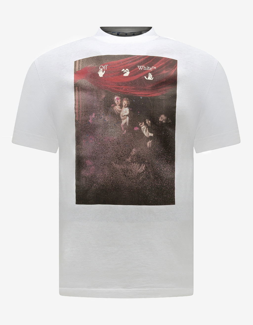 White Sprayed Caravaggio Print T-Shirt