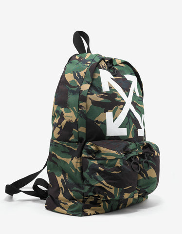 Off-White Arrows Print Camouflage Backpack