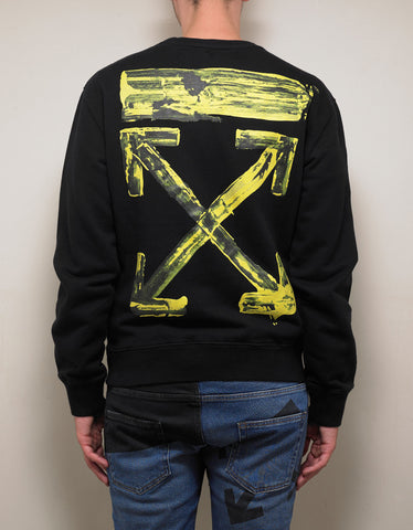 Off-White Black Acrylic Arrows Slim Sweatshirt