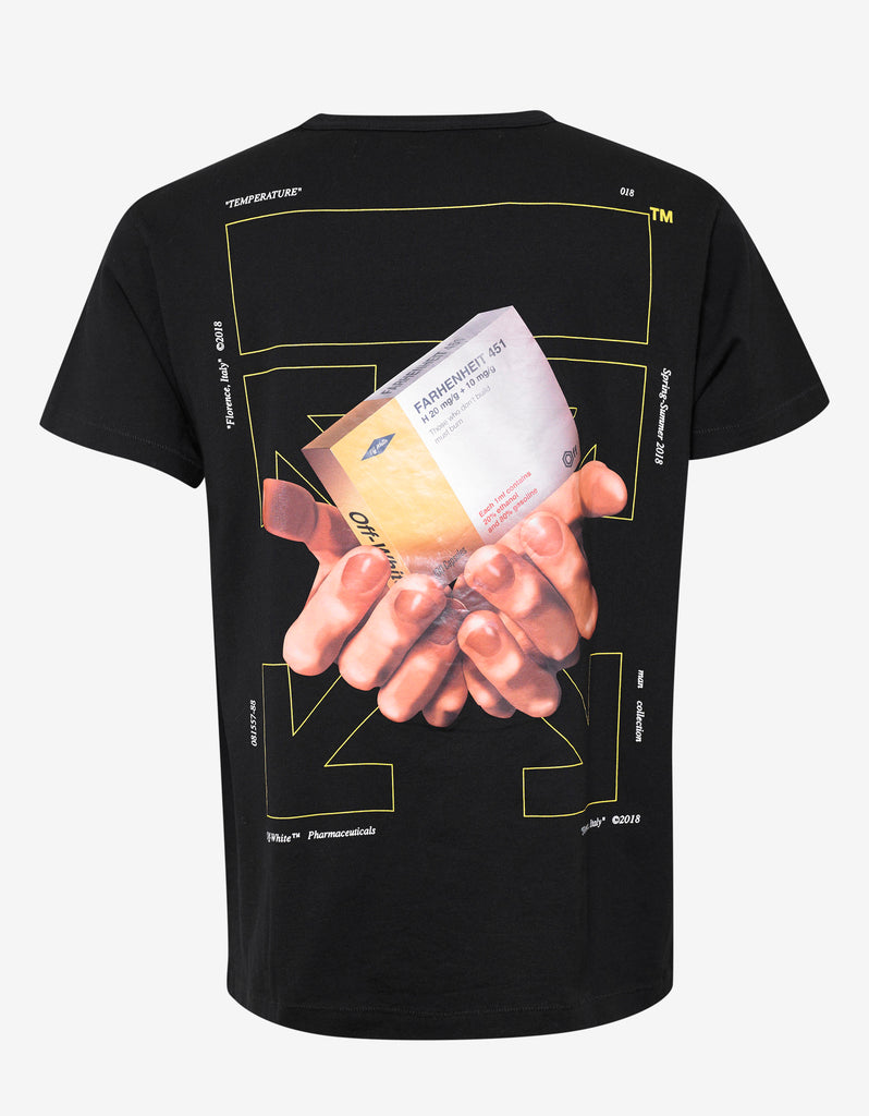 Off white black arrows hands print t shirt zoofashions com for T shirt printing one off