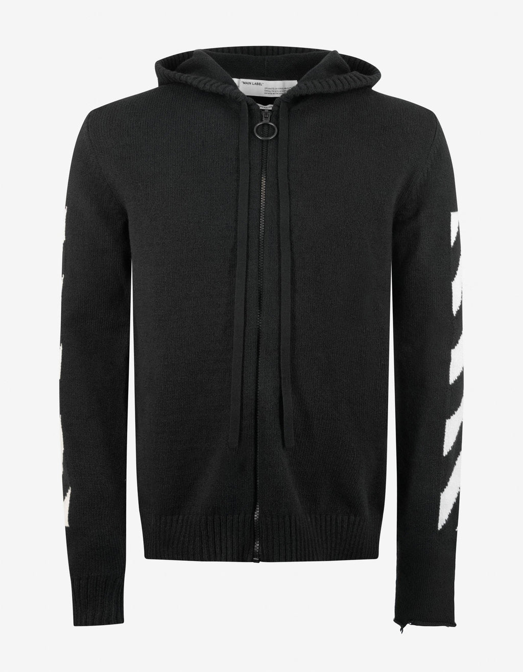 Black Arrows Hooded Zip Cardigan