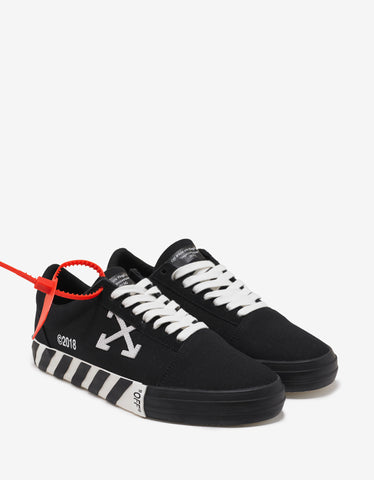 Black Canvas Low Top Trainers