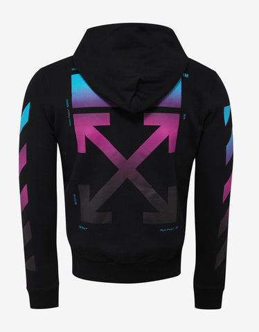 Off-White Black Diagonal Gradient Hoodie