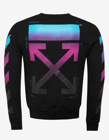 Off-White Black Diagonal Gradient Sweatshirt