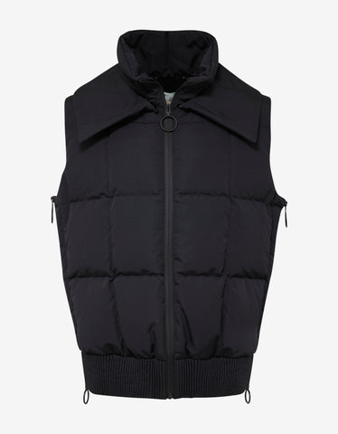 Off-White Black Firetape Print Down Gilet