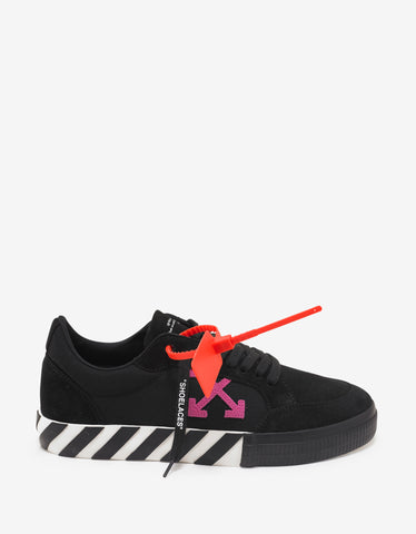 Off-White Black & Fuchsia Low Vulcanized Trainers