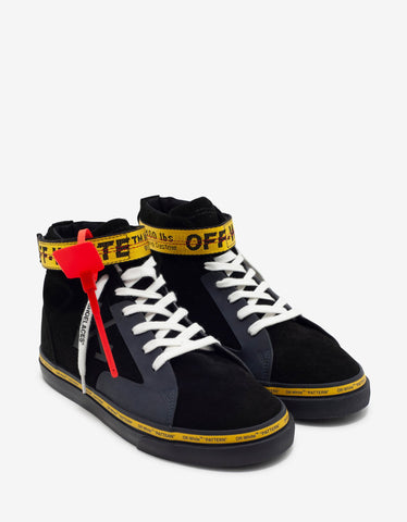 Black VLTN Strap High Top Trainers