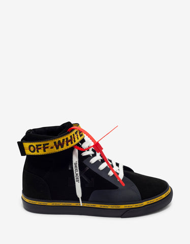 Off-White Black Industrial Vulcanized Mid Top Trainers
