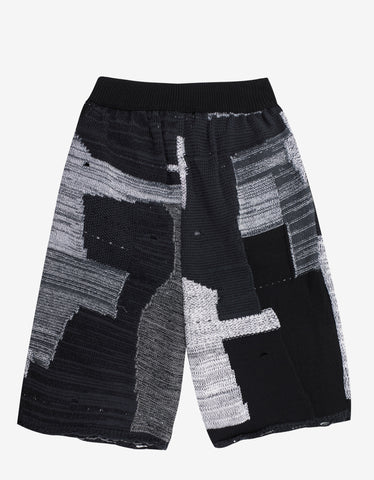 Off-White Intarsia Knit Shorts