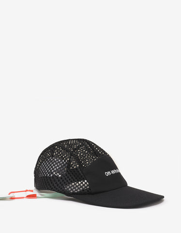 Off-White Black Mesh 5 Panel Cap