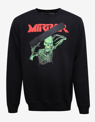 Off-White Black 'Mirror' Print Sweatshirt