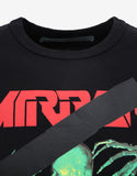 Black 'Mirror' Print T-Shirt