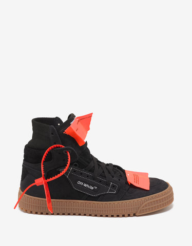 Off-White Black Off-Court Suede Leather Trainers