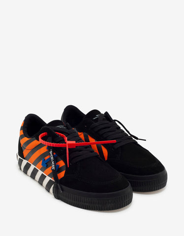 Off-White Black, Orange & Blue Low Vulcanized Trainers