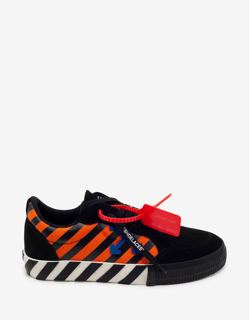 Black, Orange & Blue Low Vulcanized Trainers