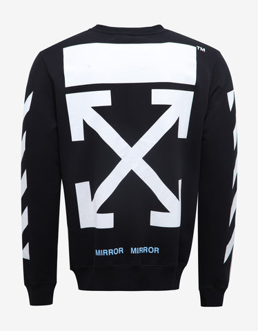 Off-White Black Caravaggio Graphic Print Sweatshirt